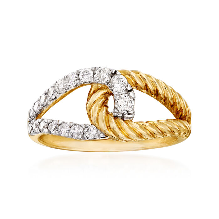 .50 ct. t.w. Diamond Loop Ring in 14kt Two-Tone Gold