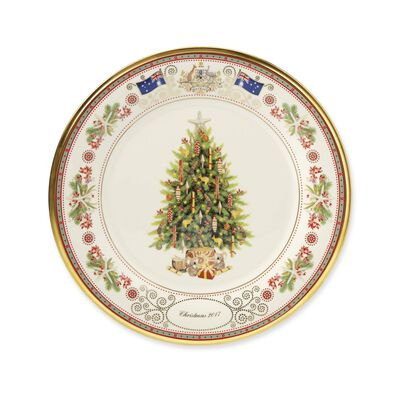 "Lenox 2017 Annual Porcelain ""Trees Around the World"" Plate - 27th Edition"