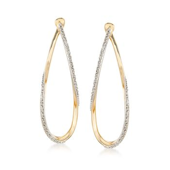 .10 ct. t.w. Diamond Twisted Teardrop Earrings in 14kt Yellow Gold, , default