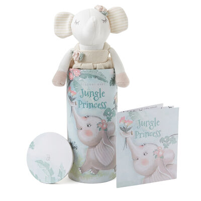 Elegant Baby Penelope Elephant Knit Toy and Book Set, , default