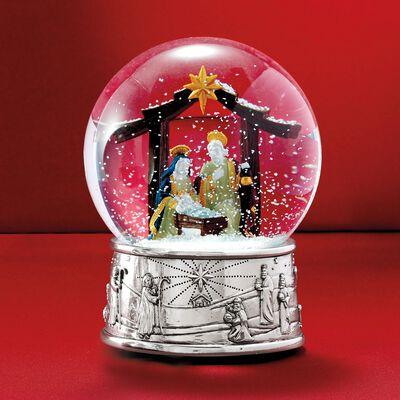 Reed & Barton Nativity Musical Snow Globe, , default