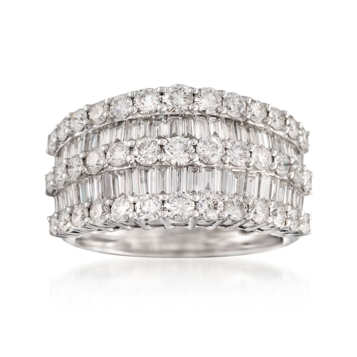 2.60 ct. t.w. Diamond Multi-Row Ring in 14kt White Gold, , default