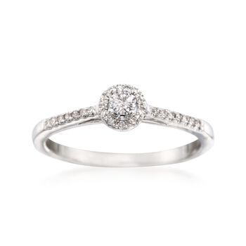 .21 ct. t.w. Diamond Promise Ring in 14kt White Gold, , default