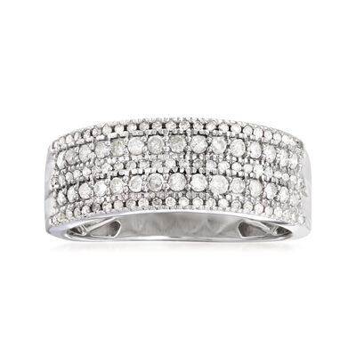 .50 ct. t.w. Diamond Five-Row Ring in Sterling Silver, , default