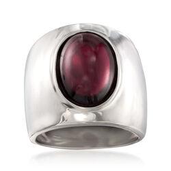 Italian 5.50 Carat Garnet Ring in Sterling Silver, , default