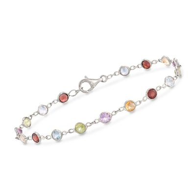 5.25 ct. t.w. Multi-Stone Bracelet in Sterling Silver, , default