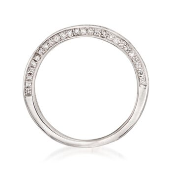 Henri Daussi .33 ct. t.w. Diamond Wedding Ring in 14kt White Gold, , default