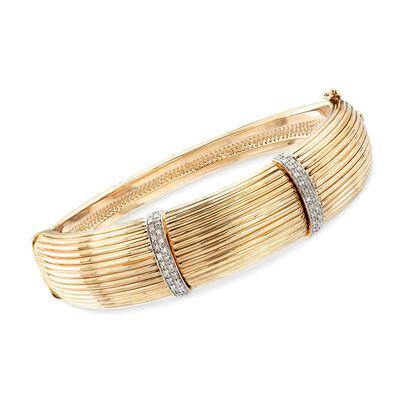 .22 ct. t.w. Diamond Bar Bangle Bracelet in 14kt Yellow Gold, , default