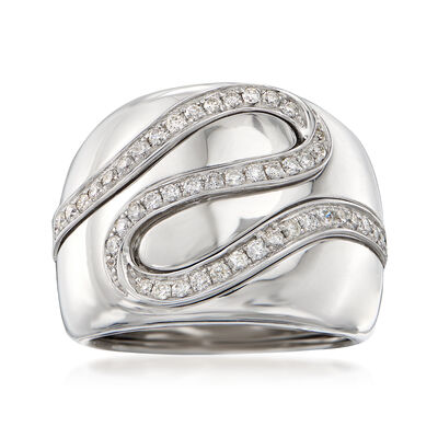 .56 ct. t.w. Diamond Ribbon Ring in 14kt White Gold, , default