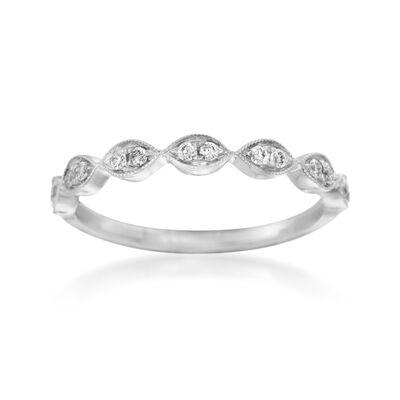 Henri Daussi .12 ct. t.w. Diamond Wedding Ring in 18kt White Gold, , default