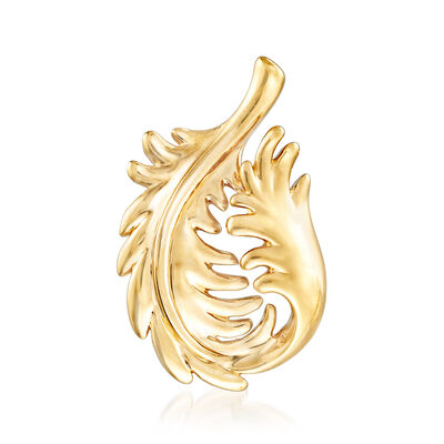 14kt Yellow Gold Leaf Pin Pendant