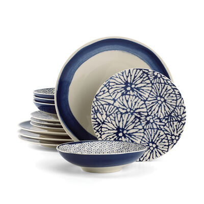 "Lenox ""Market Place Indigo"" 12-pc. Dinnerware Set, , default"