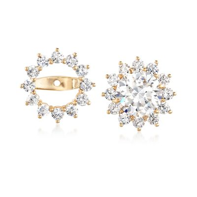 1.00 ct. t.w. CZ Earring Jackets in 14kt Yellow Gold, , default