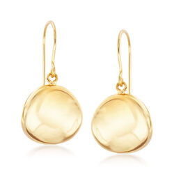 14kt Yellow Gold Polished Disc Earrings, , default