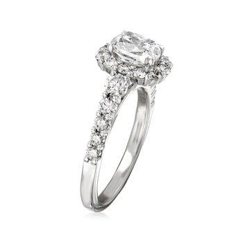 Henri Daussi 2.35 ct. t.w. Diamond Engagement Ring in 18kt White Gold