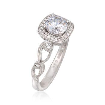 Simon G. .16 ct. t.w. Diamond Engagement Ring Setting in 18kt White Gold, , default