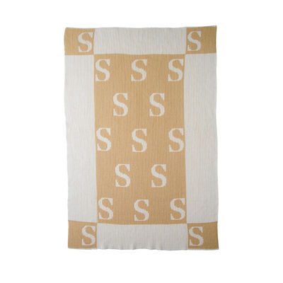 Butterscotch Blankees Personalized Initial and Blocks Blanket, , default
