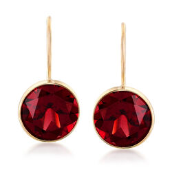 4.20 ct. t.w. Garnet Drop Earrings in 14kt Yellow Gold, , default