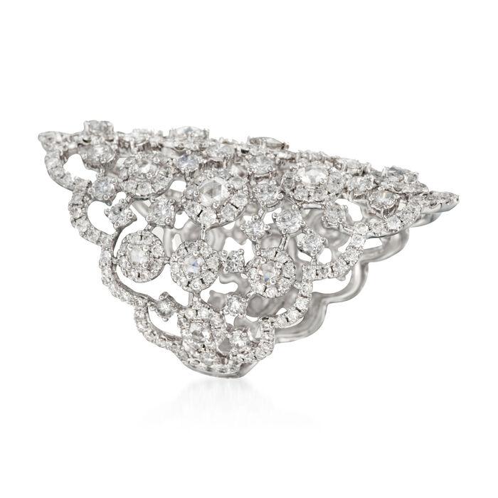 5.10 ct. t.w. Diamond Tiara Ring in 18kt White Gold