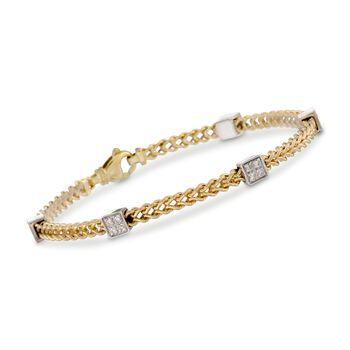 ".30 ct. t.w. Diamond Link Bracelet in 14kt Two Tone Gold. 7"", , default"