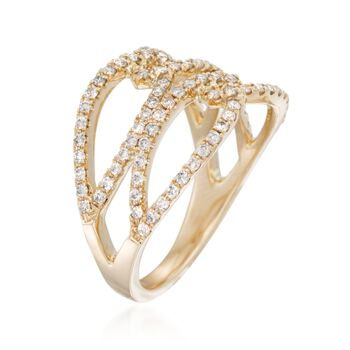 .63 ct. t.w. Diamond Open Marquises Ring in 14kt Yellow Gold, , default