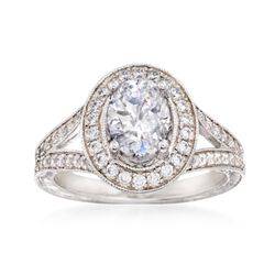 Gabriel Designs .57 ct. t.w. Diamond Engagement Ring Setting in 14kt White Gold, , default