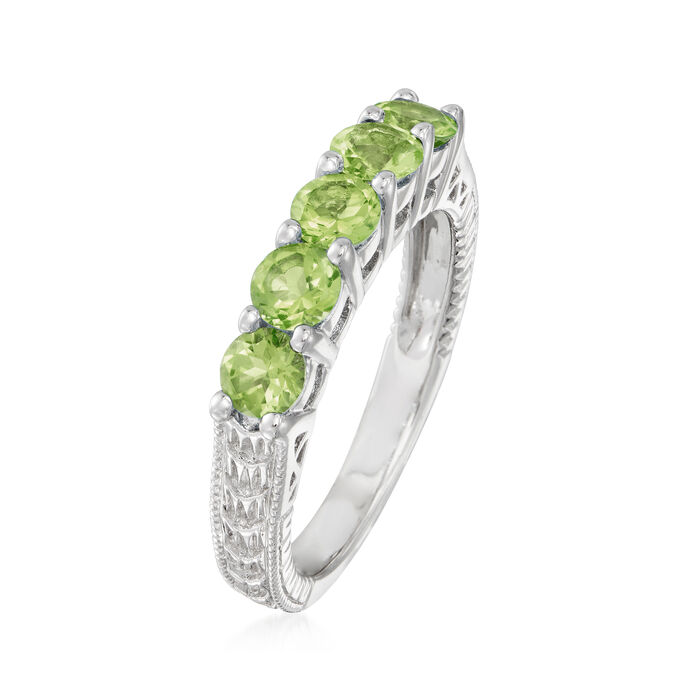 1.30 ct. t.w. Peridot Five-Stone Ring in Sterling Silver