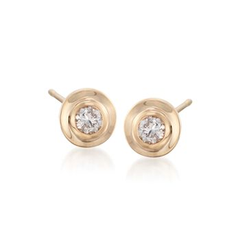 .25 ct. t.w. Diamond Bezel-Set Stud Earrings in 14kt Yellow Gold, , default