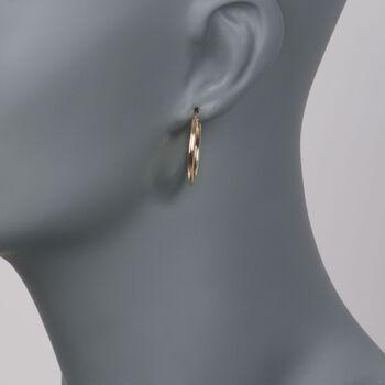 """Roberto Coin 18kt Yellow Gold Hoop Earrings. 1"""", , default"""