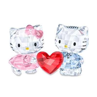 Swarovski Crystal Hello Kitty and Dear Daniel Figurines, , default