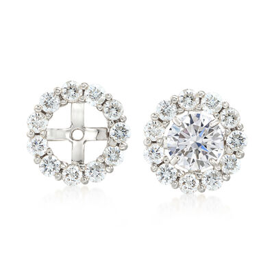 1.50 ct. t.w. Diamond Earring Jackets in 14kt White Gold, , default