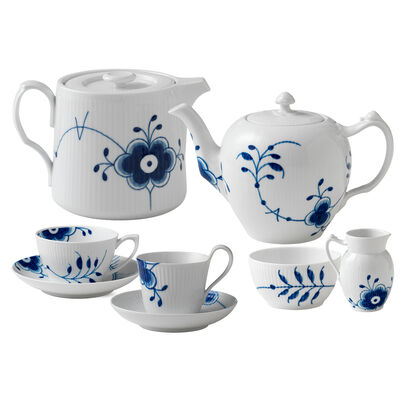 "Royal Copenhagen ""Blue Fluted Mega"" Porcelain Tea Service"