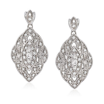 .50 ct. t.w. Diamond Marquise-Shaped Drop Earrings in Sterling Silver