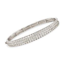 Simon G. 5.42 ct. t.w. Diamond Bangle Bracelet in 18kt White Gold, , default