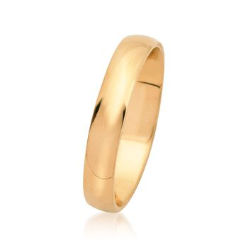Men's 4mm 14kt Yellow Gold Wedding Ring, , default