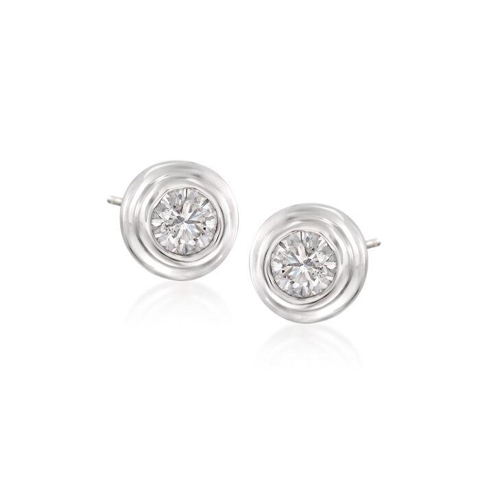 .25 ct. t.w. Diamond Stud Earrings in 14kt White Gold, , default