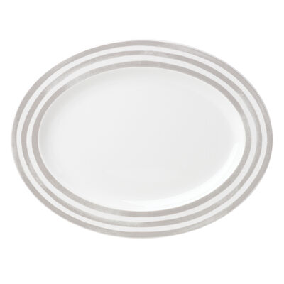 "Kate Spade New York ""Charlotte Street North"" Gray Oval Platter"