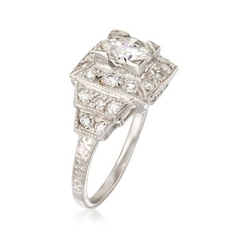 C. 2000 Vintage 1.54 ct. t.w. Certified Diamond Ring in Platinum. Size 6, , default