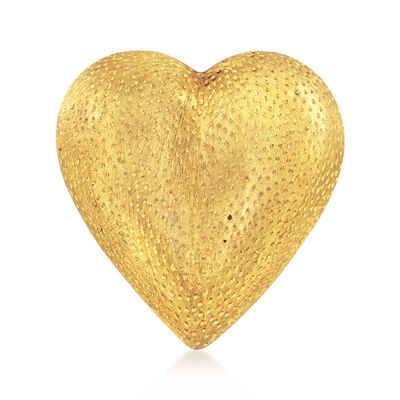 C. 1980 Vintage Tiffany Jewelry 18kt Yellow Gold Heart Pin, , default