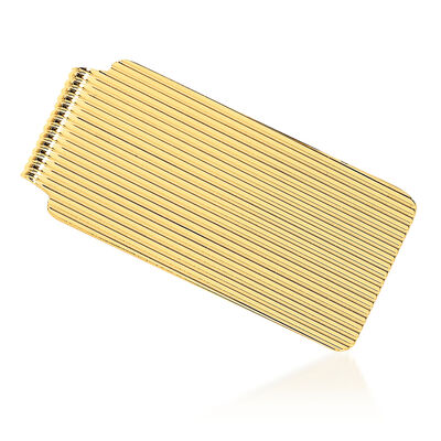 14kt Yellow Gold Polished Grooved Money Clip, , default