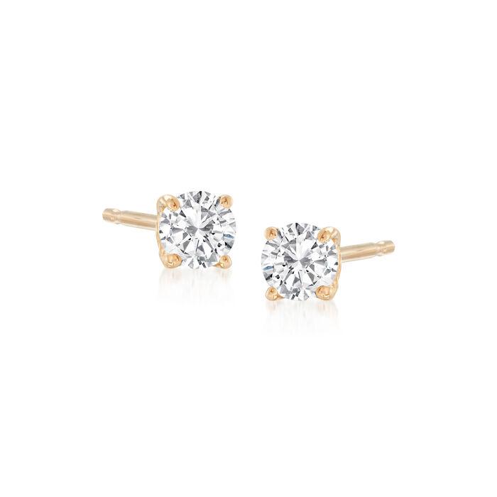 .10 ct. t.w. Diamond Stud Earrings in 14kt Yellow Gold