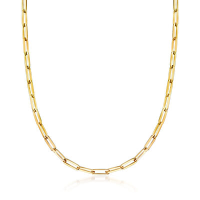 Italian Oval-Link Necklace in 18kt Yellow Gold, , default