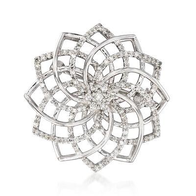.50 ct. t.w. Diamond Pinwheel Pin in Sterling Silver, , default