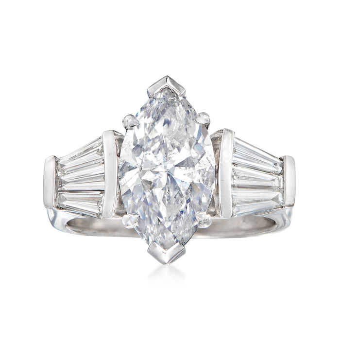 Majestic Collection 3.93 ct. t.w. Diamond Ring in 18kt White Gold. Size 7, , default