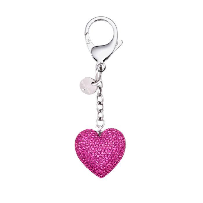 Swarovski Crystal Fuchsia Heart Bag Charm
