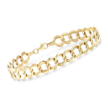 14kt Yellow Gold Curb-Link Bracelet, , default