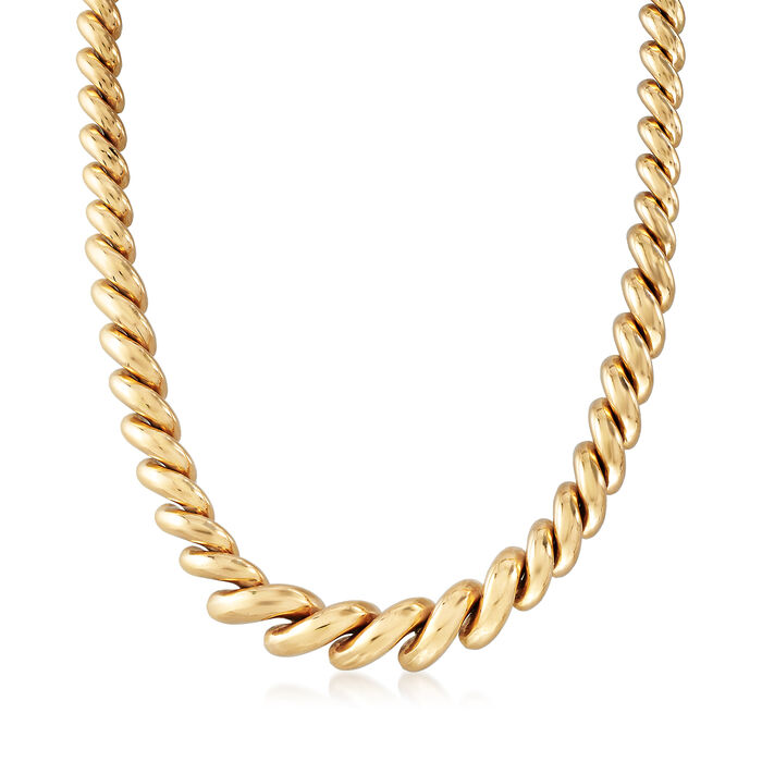 """C. 1990 Vintage 14kt Yellow Gold San Marco Necklace. 16"""""""