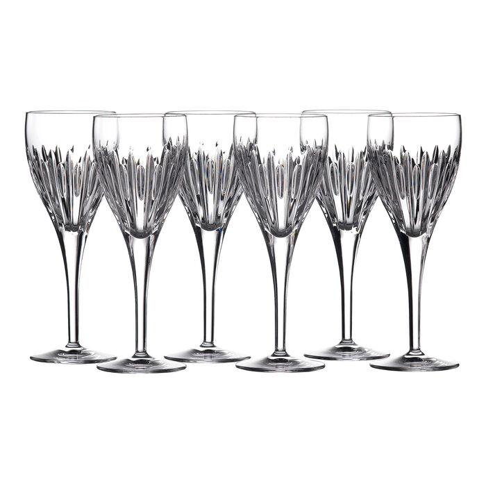 "Waterford Crystal ""Ardan"" Set of Six Mara Wine Glasses"