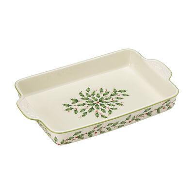 "Lenox ""Holiday"" Rectangular Baking Pan, , default"