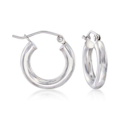 3mm Sterling Silver Huggie Hoop Earrings, , default